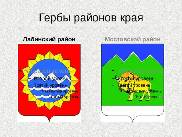 Гербы районов края Лабинский район Мостовской район