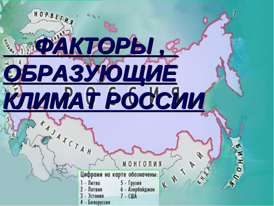 Конспект урока географии в 8 классе на тему факторы определяющие климат россии