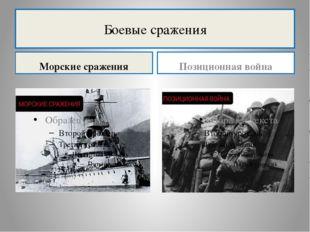 Боевые сражения Морские сражения Позиционная война