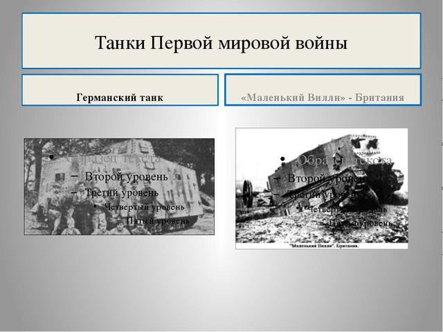 Танки Первой мировой войны Германский танк «Маленький Вилли» - Британия