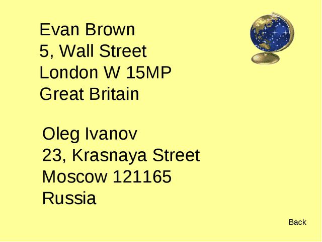 Evan Brown 5, Wall Street London W 15MP Great Britain Oleg Ivanov 23, Krasnay...
