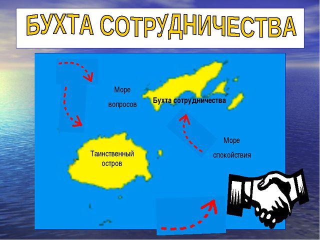 Море вопросов Море спокойствия Таинственный остров Бухта сотрудничества