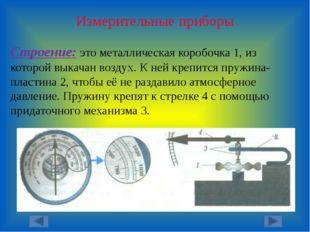 Измерительные приборы Строение: это металлическая коробочка 1, из которой вык