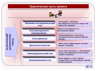 Практическая часть проекта Этапы практической деятельности Провести экспериме