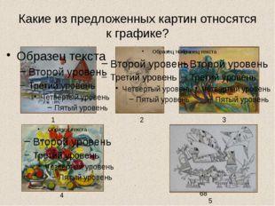 Какие из предложенных картин относятся к графике? 1 3 4 2 5 Задание на выбор