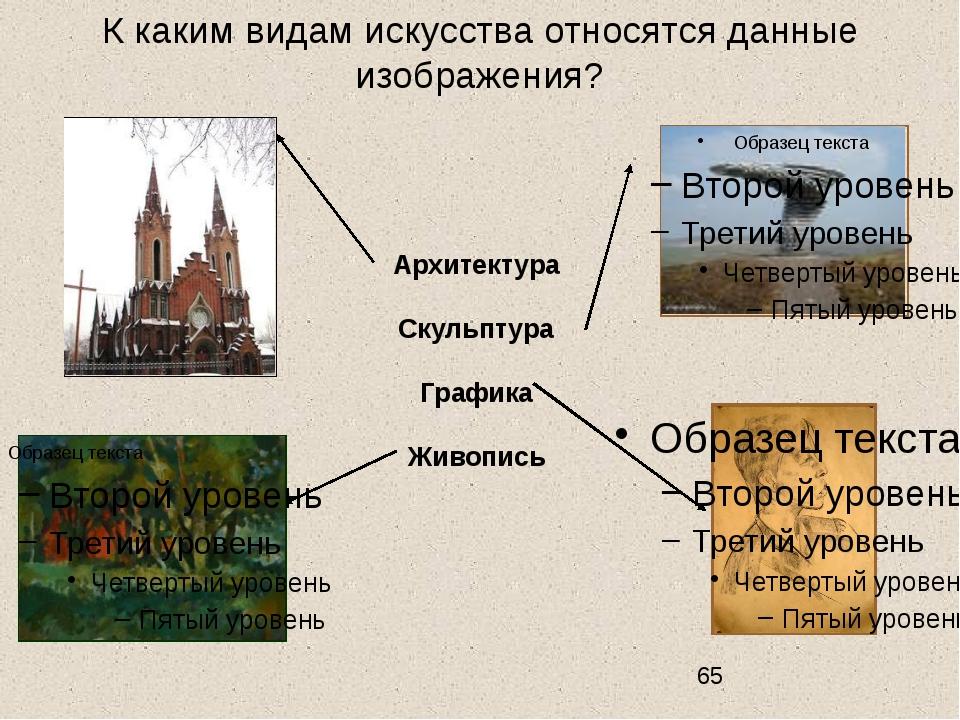 К каким видам искусства относятся данные изображения? Архитектура Скульптура...
