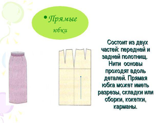 Состоит из двух частей: передней и задней полотнищ. Нити основы проходят вдо...