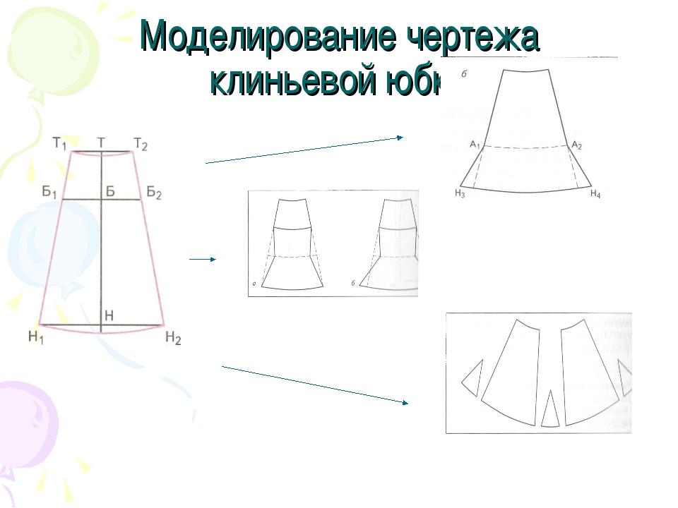Моделирование чертежа клиньевой юбки