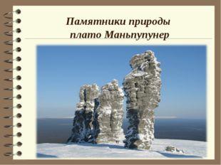 Памятники природы плато Маньпупунер