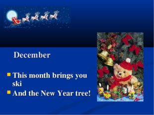 December This month brings you ski And the New Year tree!