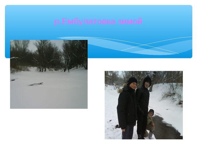 р.Ембулатовка зимой
