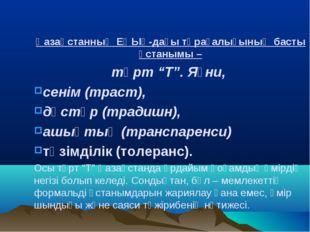 """Қазақстанның ЕҚЫҰ-дағы төрағалығының басты ұстанымы – төрт """"Т"""". Яғни, сенім"""