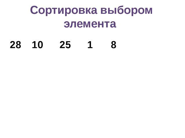 Сортировка выбором элемента 2810 251 8