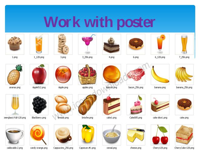 Work with poster