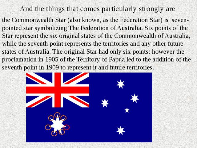 And the things that comes particularly strongly are the Commonwealth Star (al...