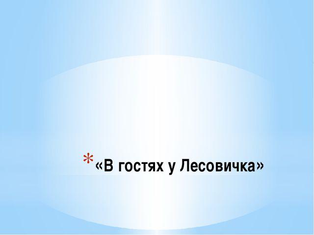«В гостях у Лесовичка»