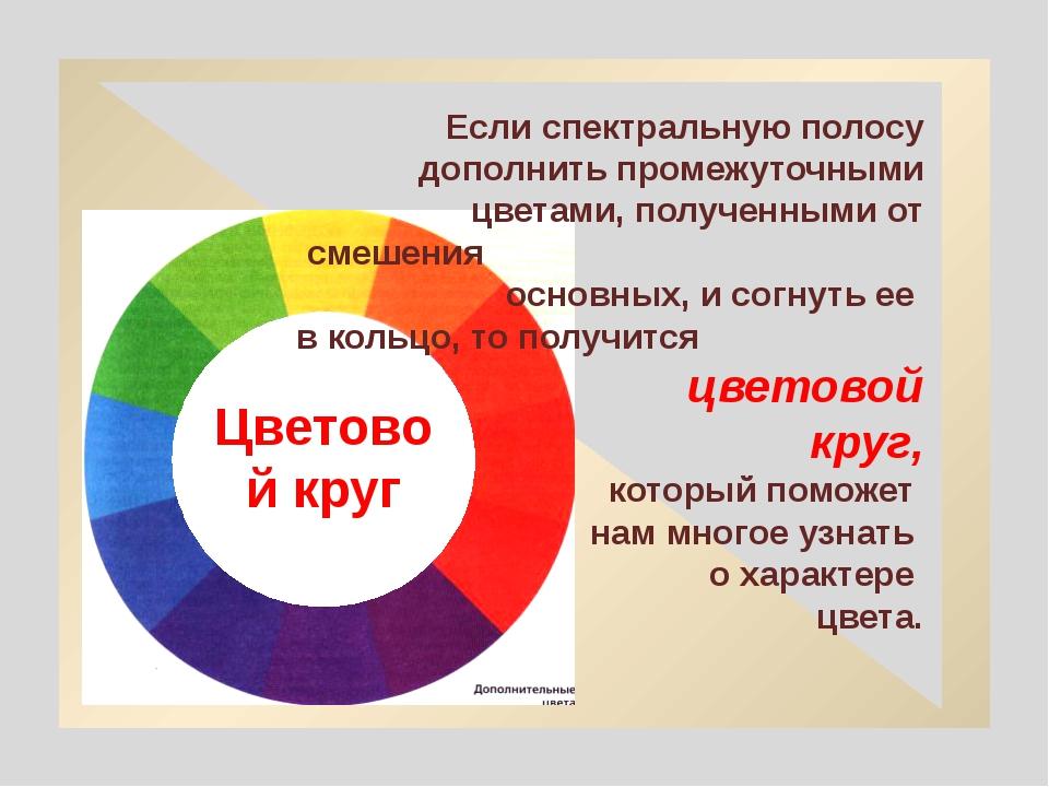 Если спектральную полосу дополнить промежуточными цветами, полученными от см...