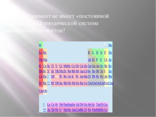 18. Какой элемент не имеет «постоянной прописки» в Периодической системе хими