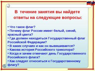 В течение занятия вы найдете ответы на следующие вопросы: Что такое флаг? Поч