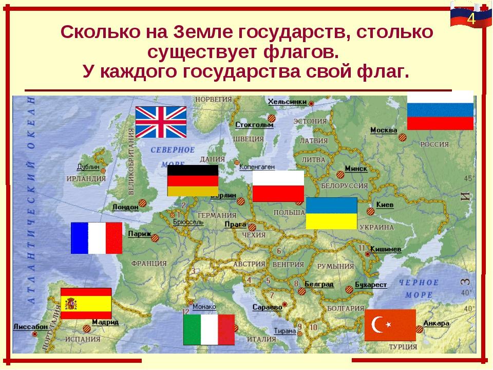 Сколько на Земле государств, столько существует флагов. У каждого государства...