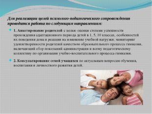 Для реализации целей психолого-педагогического сопровождения проводится работ