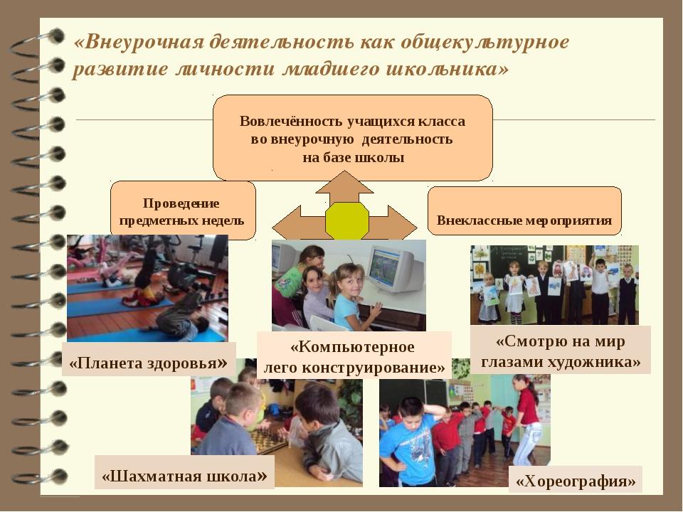 «Внеурочная деятельность как общекультурное развитие личности младшего школьн...