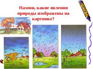 Назови, какие явления природы изображены на картинке?