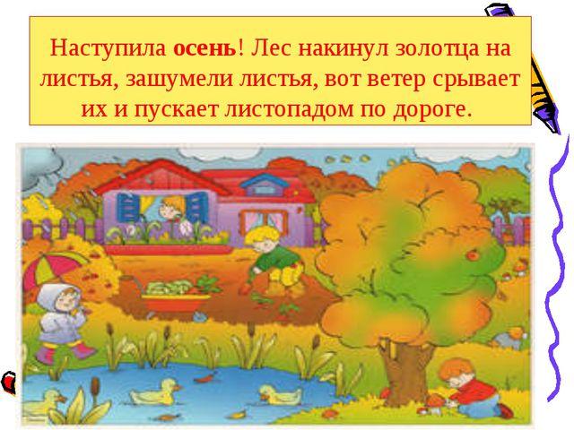 Наступила осень! Лес накинул золотца на листья, зашумели листья, вот ветер ср...