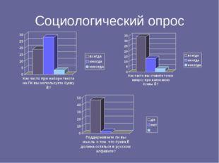 Социологический опрос