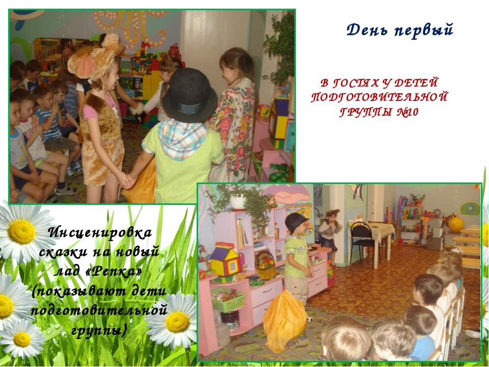 Инсценировка сказки на новый лад «Репка» (показывают дети подготовительной гр...