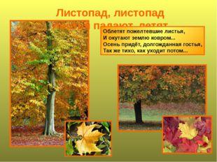 Листопад, листопад листья падают, летят Облетят пожелтевшие листья, И окутают