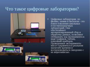 Что такое цифровые лаборатории? Цифровые лаборатории по физике, химии и биол