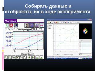Собирать данные и отображать их в ходе эксперимента