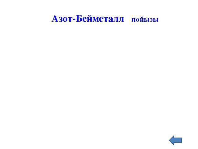 NH3 Азот-Бейметалл пойызы