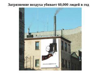 Загрязнение воздуха убивает 60,000 людей в год