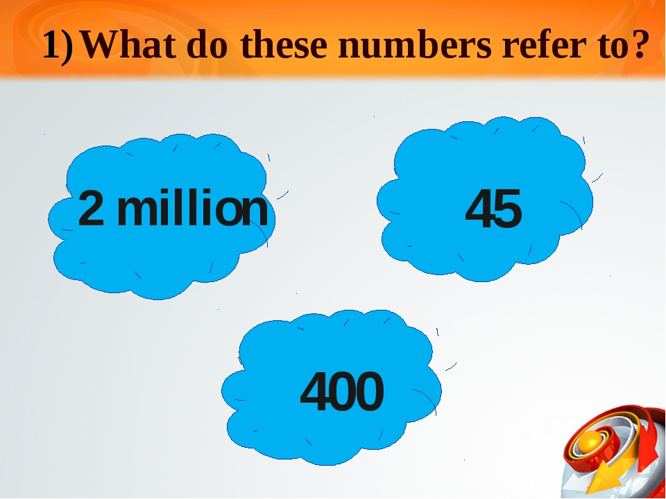 What do these numbers refer to? 2 million 45 400