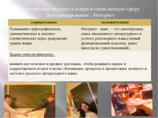 Русский язык вступил в новую и очень важную сферу функционирования - Интерне