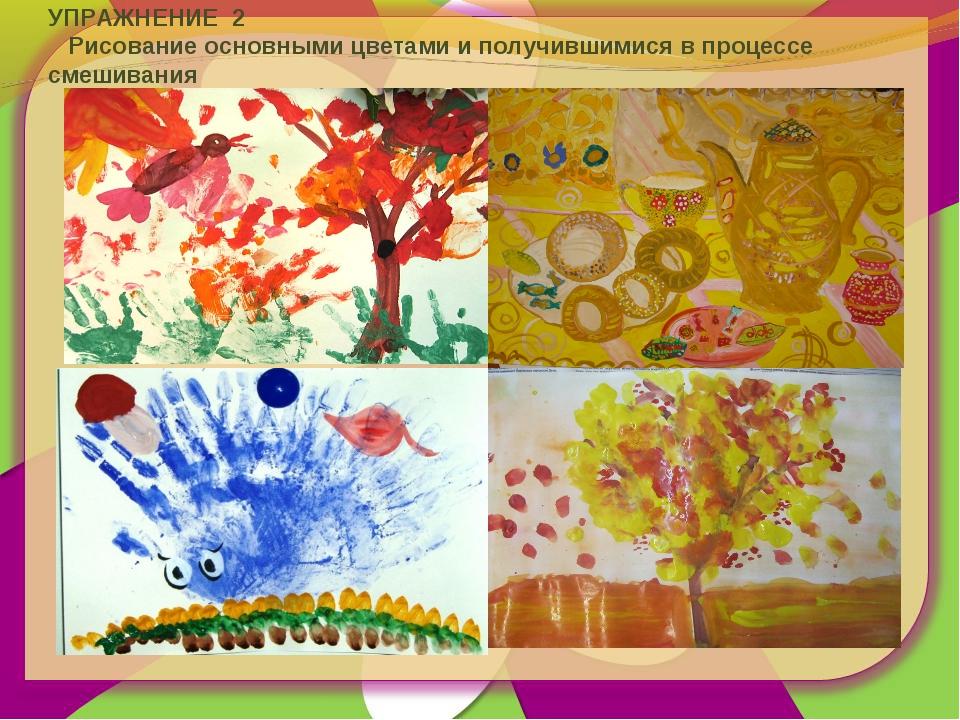 УПРАЖНЕНИЕ 2 Рисование основными цветами и получившимися в процессе смешивания