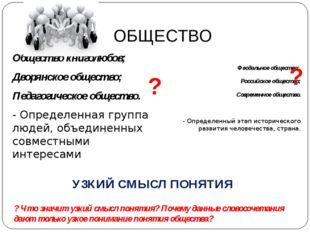 ОБЩЕСТВО Общество книголюбов; Дворянское общество; Педагогическое общество. -