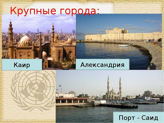 Крупные города: Каир Александрия Порт - Саид Page