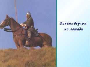 Те Викинг верхом на лошади