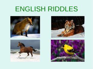 ENGLISH RIDDLES