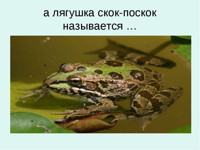 а лягушка скок-поскок называется …