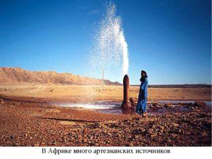 В Африке много артезианских источников