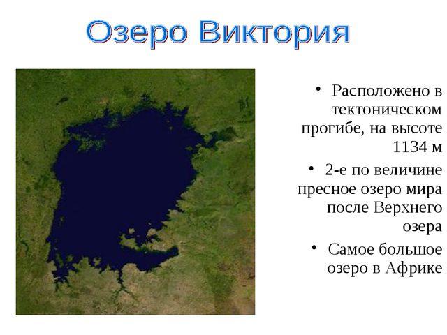 Расположено в тектоническом прогибе, на высоте 1134 м 2-е по величине пресное...