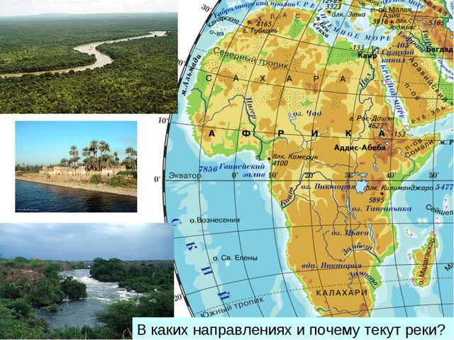 В каких направлениях и почему текут реки?