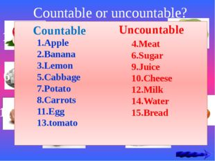 Countable or uncountable? 1 4 3 2 9 8 7 6 5 12 13 14 15 10 11 Countable Uncou