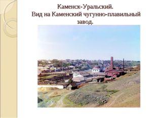Каменск-Уральский. Вид на Каменский чугунно-плавильный завод.