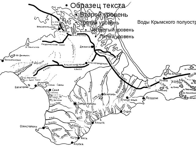 Воды Крымского полуострова