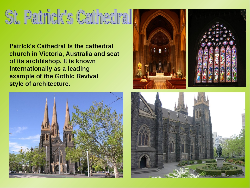 Patrick's Cathedral is the cathedral church in Victoria, Australia and seat o...